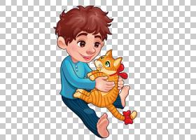 猫卡通插图,猫玩PNG剪贴画儿童,动物,宠物,橙色,蹒跚学步,脊椎动