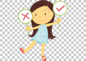 手绘卡通女孩长头发棉花糖PNG剪贴画水彩画,儿童,手,人,虚构人物,