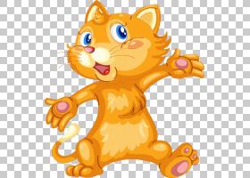 猫小猫卡通,卡通猫PNG剪贴画卡通人物,哺乳动物,画,动物,猫像哺乳