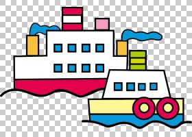 平面设计卡通,卡通船PNG剪贴画卡通人物,文本,矩形,漫画,材料,运
