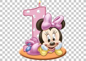 生日蛋糕婚礼邀请贺卡和笔记卡,米妮老鼠,迪士尼米妮PNG剪贴画希