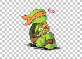 米开朗基罗披萨忍者神龟YouTube艺术,忍者乌龟PNG剪贴画英雄,脊椎