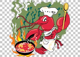 龙虾浓汤小龙虾库存照片,厨师PNG剪贴画食品,动物,花卉,卡通,虚构