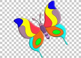 卡通紫色蝴蝶和飞蛾,五颜六色的蝴蝶机PNG剪贴画紫色,卡通,艺术,
