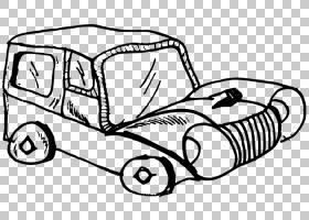 卡通绘画卡通汽车PNG剪贴画白色,哺乳动物,手,老式汽车,汽车,运输
