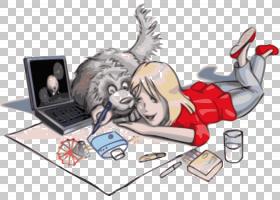 卡通绘画画面纱的女孩PNG剪贴画哺乳动物,儿童,铅笔,动物,虚构人
