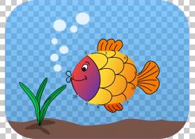可爱的鱼PNG剪贴画杂项,食品,计算机,橙色,其他脊椎动物,花,卡通,