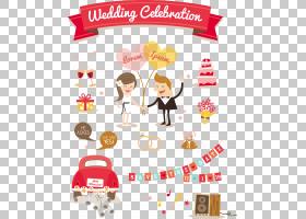婚礼邀请卡通插图,婚礼装饰元素PNG剪贴画爱,假期,文本,摄影,心,