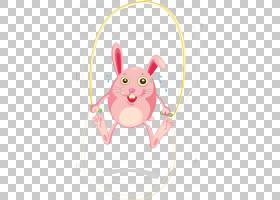 家兔图,兔绳跳过PNG剪贴画哺乳动物,画,卡通手绘,摄影,手,技术,兔