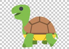 海龟Emojipedia爬行动物,乌龟PNG剪贴画动物,动物群,草,贴纸,卡通