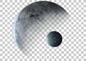 外太空行星地球航天器宇航员,行星,两个灰色行星照片PNG剪贴画杂
