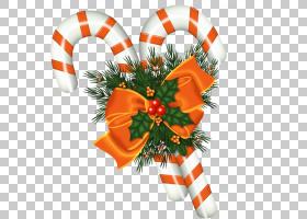 糖果手杖圣诞老人圣诞节装饰品,商业元素PNG clipart假期,橙色,圣