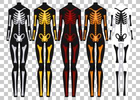 万圣节服装骷髅杰克Skellington服装设计,骨架PNG剪贴画万圣节服