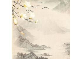 古典中国风背景素材山水画水墨画