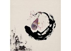 复古中国风背景素材山水画水墨画