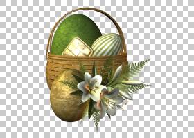 花卉花艺设计食品礼品篮花艺,复活节彩蛋PNG剪贴画假期,复活节彩图片