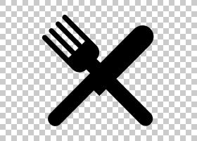 刀叉餐具,厨师徽标PNG剪贴画厨房,手,牛排刀,黑色和白色,符号,勺