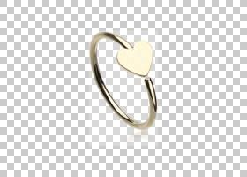 Body Jewellery手术不锈钢银色鼻子穿孔,银色PNG剪贴画戒指,心脏,