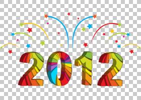 元旦新年前夕新年的决心,新年快乐PNG剪贴画文本,新的一年,免版税