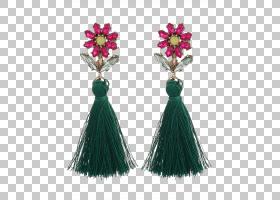 耳环珠宝时尚服饰配饰仿宝石和水钻,花卉波西米亚PNG剪贴画杂项,