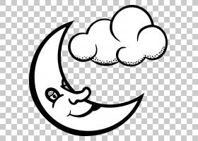 雪花,半月PNG剪贴画爱,白色,脸,文本,云,单色,头,半月亮,黑色,217