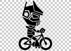 自行车机器人AutoCAD DXF,自行车PNG剪贴画徽标,单色,虚构人物,鞋
