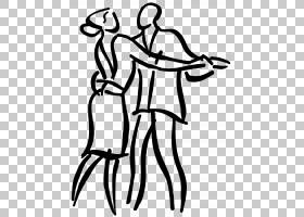 舞蹈艺术,舞厅PNG剪贴画杂项,白色,线舞蹈,手,其他,单色,人类,鞋,