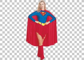 超女服装超人T恤服装,超级女孩PNG剪贴画虚构人物,万圣节服装,超