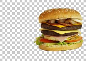 汉堡芝士汉堡快餐垃圾食品早餐三明治,汉堡PNG剪贴画食品,食谱,快