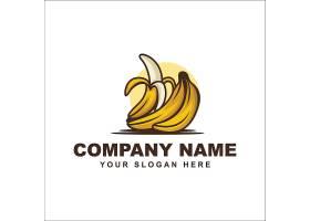 创意香蕉元素形象LOGO设计图片