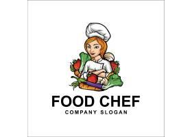 创意食物蔬菜厨师形象LOGO设计图片