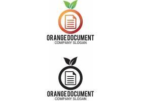 橘子书信文件形象通用LOGO设计图片
