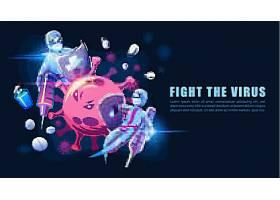 抗冠状病毒感染和预防矢量插画设计