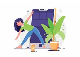瑜伽日运动健身卡通瑜伽矢量图图片