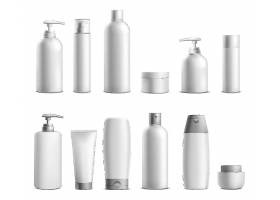 白色包装的沐浴护理美白护肤产品主图展示