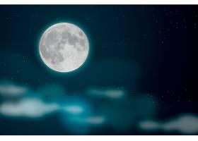 星空月色矢量装饰背景设计