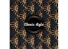 黑金民俗风格欧式花纹主题装饰底纹背景设计
