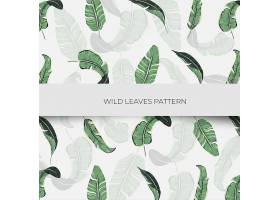创意清新植物叶子主题矢量背景设计