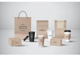 咖啡主题整套包装设计VI展示样机