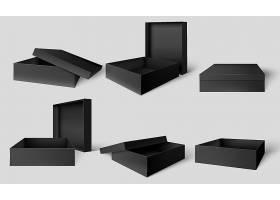 黑色礼盒产品套盒外包装设计VI展示样机