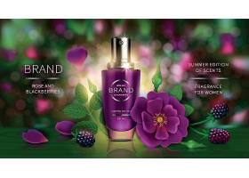 水果元素护肤品化妆品产品展示海报设计图片