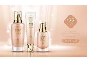 高端粉底液护肤品化妆品产品展示海报设计图片