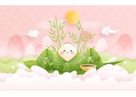 端午节粽子粽叶海报图片