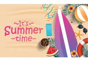 创意夏天夏季矢量背景设计