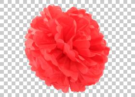 纸Pom-pom红色,精致的花瓣PNG剪贴画杂,蓝色,其他颜色,花,洋红色,