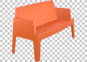 塑料长椅花园家具沙发,沙发PNG剪贴画角,家具,矩形,橙色,沙发,颜