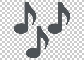 表情符号音乐音符乐谱音乐笔记PNG剪贴画杂项,文本,徽标,单色,合