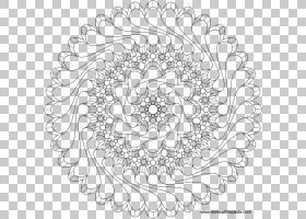 耳环曼陀罗PNG剪贴画纺织,对称,单色,颜色,黄金,花卉,材料,花边,
