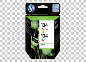 惠普墨盒打印机HP Deskjet绿色喷墨PNG剪贴画墨水,墨盒,颜色,品牌