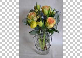 花园玫瑰花艺设计切花鲜花花束春天的草地PNG剪贴画插花,气球,人